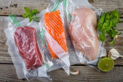 Vakuumverpackung für Fisch, Fleisch, Lebensmittel, Käse