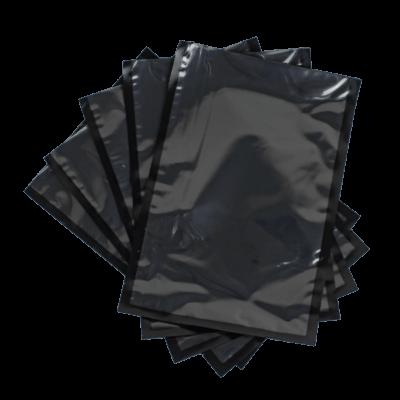 Glatte Vakuumbeutel schwarz/transparent